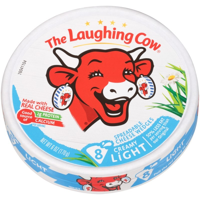 Laughing Cow Wedges, Light Creamy Swiss Cheese